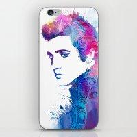 elvis presley iPhone & iPod Skins featuring Elvis Presley by WatercolorGirlArt
