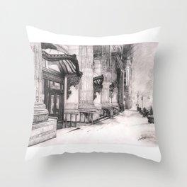 snowy city... Throw Pillow