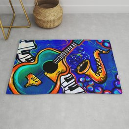 Carnival Jazz Painting Rug