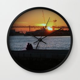 Daybreak on the river Wall Clock