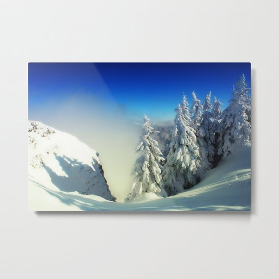 Frozen Top Metal Print