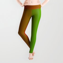 Traffic light red yellow green ombre flames Leggings