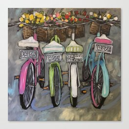 Greatest of These Bikes Canvas Print
