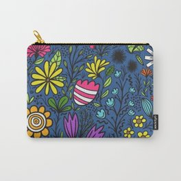Flural Pattern Vector Design 26 Carry-All Pouch