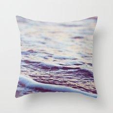 Morning Ocean Waves Throw Pillow