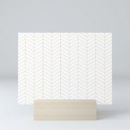 Herringbone - Gold Mini Art Print