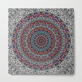 Colorful mandala Sophisticated ornament Metal Print