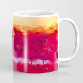 Sunset in Fall Abstract Landscape Coffee Mug