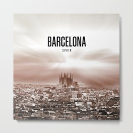 Barcelona Wallpaper Metal Print