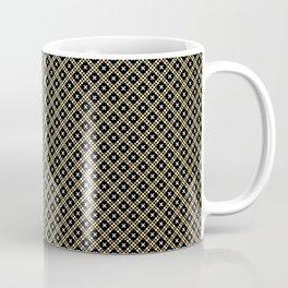 Smal black, white and gold dots pattern Coffee Mug