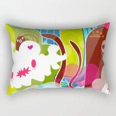 The Great Pineapple Race Rectangular Pillow