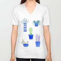 succulents V-neck T-shirts featuring Succulents by Nic Squirrell