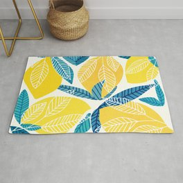 Lemon Tree / Abstract Fruit Art Rug