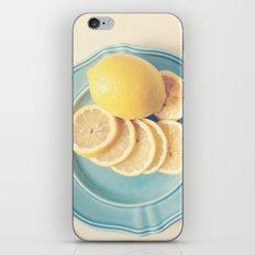Lemons on Blue iPhone Skin