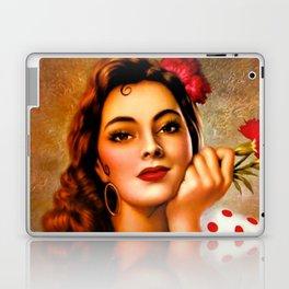 Mexican Sevillana Calendar Girl by Jesus Helguera Laptop & iPad Skin