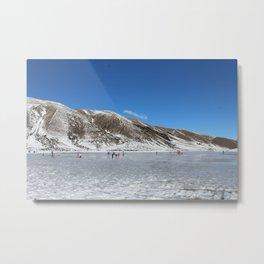 Frozen Lake Lyndon Metal Print