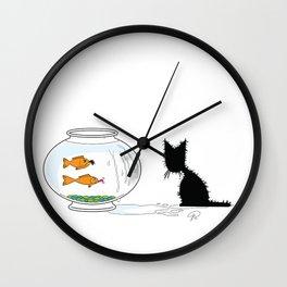 Gone Fishin' (The Naughty Kitten) Wall Clock