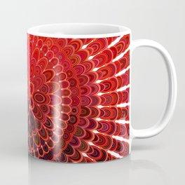 Red Flower Mandala Coffee Mug