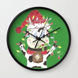 Snowbell and the Christmas lights Wall Clock