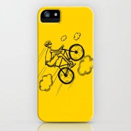 Biking in the Clouds iPhone Case