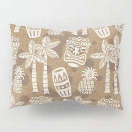 Retro Mid Century Modern Tiki Pattern 530 Beige Pillow Sham
