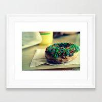 doughnut Framed Art Prints featuring Doughnut by lauraflores013