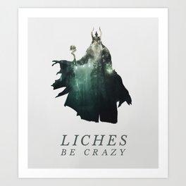Lich (Typography) Art Print