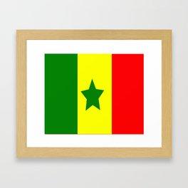 Flag of Senegal Framed Art Print