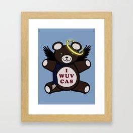 I Wuv Cas Dean Winchester Teddy Bear Framed Art Print