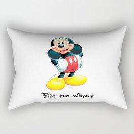 Mickey Mouse, find the mistake - humor Rectangular Pillow