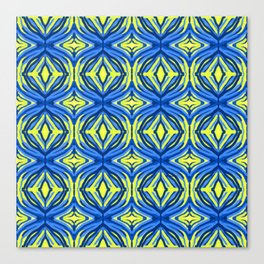 Wavy yellow and blue lines Canvas Print