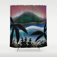 paradise Shower Curtains featuring Paradise by ShaylahLeigh