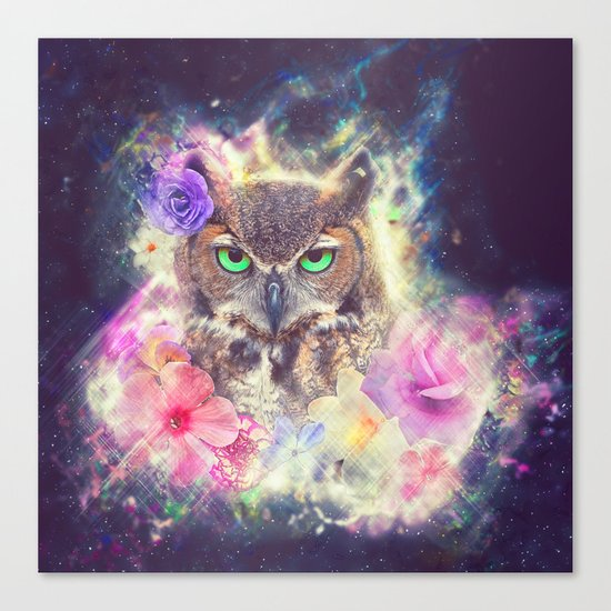 Space Owl with Spice Canvas Print