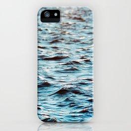 Turquoise ocean water texture iPhone Case
