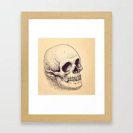 Dotted Skull Framed Art Print