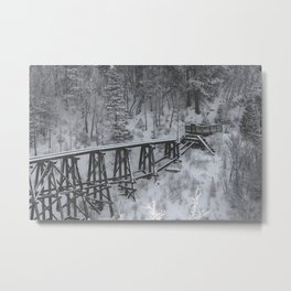 abandoned mountation railway Metal Print