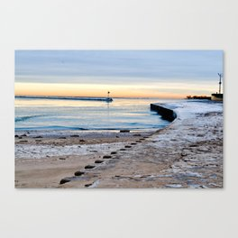 Winter Harbor Canvas Print