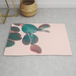 Pastel Cactus on Pink Rug