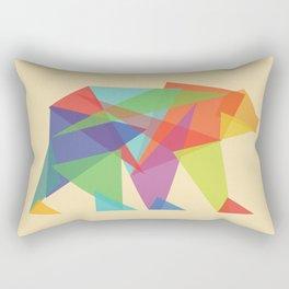 Fractal Geometric bear Rectangular Pillow
