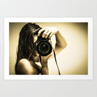 photographer Art Prints featuring photographer by Dayana Pessanha