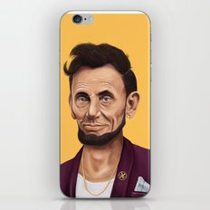 Hipstory -  Abraham Lincoln iPhone & iPod Skin