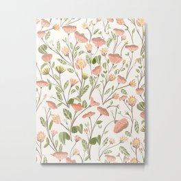 Spring Floral Pattern Metal Print