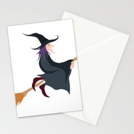 What Up Witches Halloween Broomstick Stationery Cards