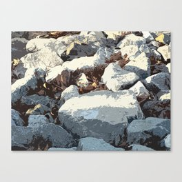 Rock Pile  Canvas Print