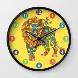 Lion, from the AlphaPod collection Wall Clock