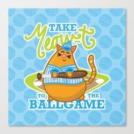 Take Meowt to the ball game!  Canvas Print