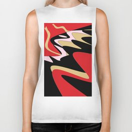 Snake Hill - Red and Black Biker Tank