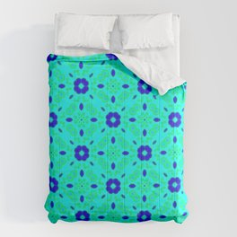 Bold Bloom | No. 2 | Floral Repeat Pattern Comforters