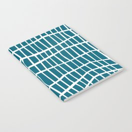 Net White on Blue Notebook