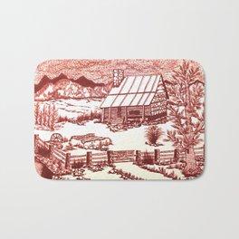 Mountain Cabin Rustic Bath Mat